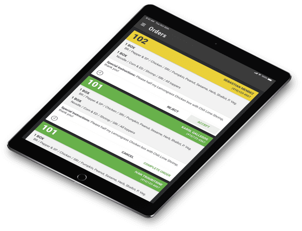 Order Management Tablet